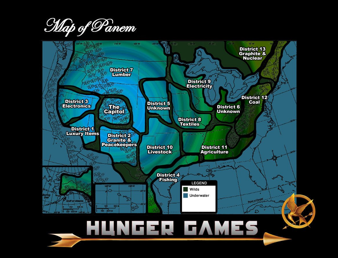 If The Hunger Games Cant Ignite An Eco Rebellion Earth First - Hunger-games-us-map