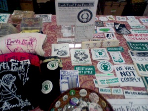 Get yer radical holiday EF! merch at the Earth First! Film Fest