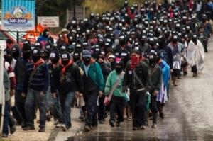Zapatistas march on Winter Solstice 2012