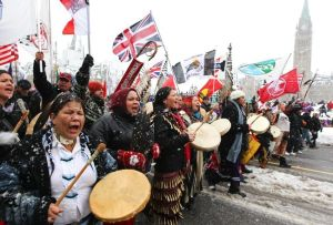 Thousands of First Nations 'Idle No More' protesters demand meeting