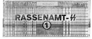 IBM Custom Punch Card for Nazi SS Race Office