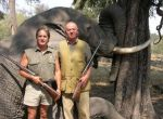 King Juan Carlos with a dead elephant from a 2006 hunting trip
