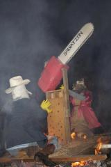 Outlaws burning effigies of Oregon Secretary of State Kate Brown and Gov. John Kitzhaber... All in good fun, of course.