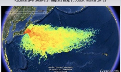 Radioactive Seawater Impact Map (March 2012), US Dept of State Geographer Image
