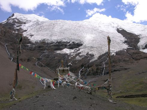 Tibet 05 03 Nojin Kangtsang and Glacier From Karo La