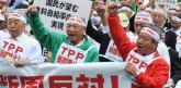 Japanese farmers at Anti-TPP in 2012
