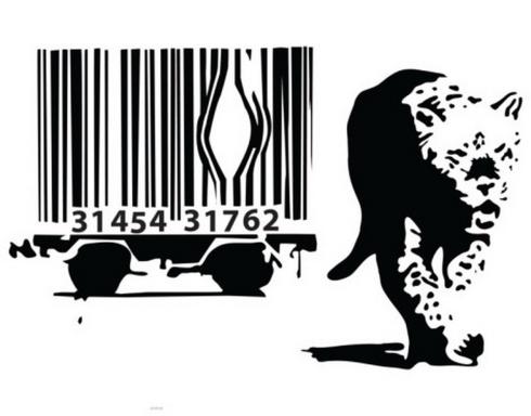 banksy leopard barcode