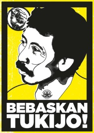 Solidarity poster for Tukijo, a prisoner of the anti-mining struggle on Java.