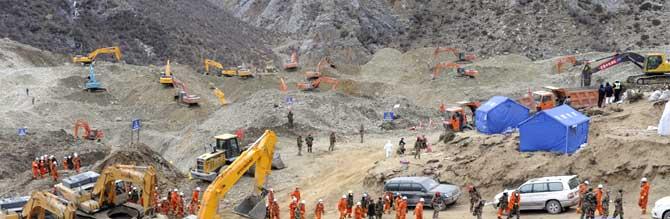 2013 Gyama Mine landslide news