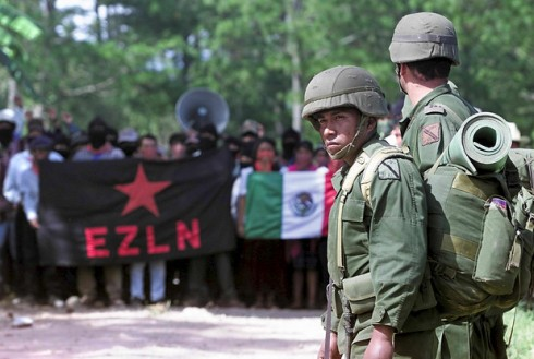 Mexico has gone public about military coordination with Israel in Chiapas, home to the Zapatistas liberation movement. (Omar Torres / AFP/Newscom)