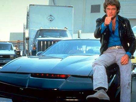 Hoff sittin' pretty on Kit, his talking robot muscle car. Check this out if you are too young to remember not using Facebook. https://www.youtube.com/watch?v=Mo8Qls0HnWo