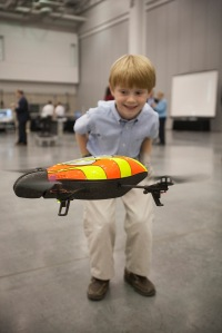 The Parrot flying AR Drone that can be flown using an iPhone or iPad captivated young and