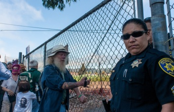 In August, protesters attempting to harvest crops were originally unable to enter the Gill Tract due to a locked gate and the police. They later entered through another entrance. http://www.dailycal.org