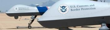 Two 10,000-pound Predator-B border patrol drones.
