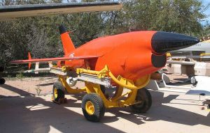 Here is the Teledyne Ryan Firebee drone looking like a much more dapper version its Nazi predecessor. This photo was taken at Muzeyon Heyl ha-Avir, Hatzerim airbase, Israel.