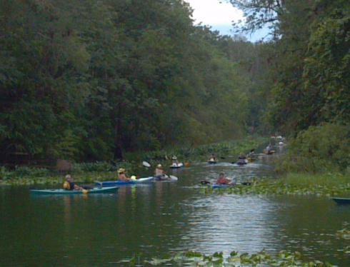 Paddlers charge the iconic Silver River, protesting Adena Springs Ranch