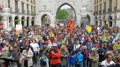 The march against Monsanto, Germany. (Image from twitter user@Julia_etc)