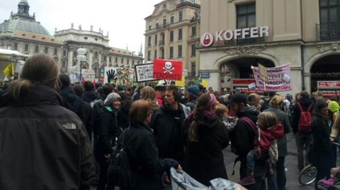 The march against Monsanto, Munich. (Image from twitter user@nasimjo)