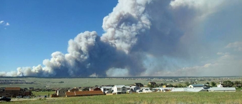 Fire rages in Black Forest, CO. Photo credit: Colorado Black Forest Fire Facebook page