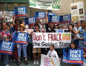 """Prepare for a fight over fracking for black gold in the Golden State. California is emerging as the new battleground over the fracking process – in which water, sand and chemical additives are injected into rock formations to release the hydrocarbons trapped within. It is a fight that could become a political lightning rod, as the sites earmarked for development include densely populated urban areas. So far the US controversy over fracking has been most intense in Pennsylvania, New York and other north-eastern states, where natural gas lies in shale formations in mostly rural areas. Fracking is also responsible for an oil boom that has transformed remote North Dakota – bringing prosperity for some, but raising concerns about pollution. The vast Monterey Shale, which lies beneath central and southern California, is estimated to contain almost 1900 million tonnes of recoverable oil – more than 2.5 times as large as the deposits in North Dakota. Many more people will be affected by its development, because oil fields lie near heavily populated areas of Los Angeles county, including Culver City, formerly the home of MGM Studios and still the base for Sony Pictures. Air-quality fears Last week, a coalition called Californians Against Fracking presented a petition with 100,000 signatures to governor Jerry Brown, asking him to ban fracking in the state. Meanwhile, a bill that would have imposed a moratorium until new regulations were in place was defeated in the state legislature. Campaigners vow to keep up the pressure on Brown and note that two other bills seeking to impose a moratorium, which stalled this year, could come back for consideration in January. While protests in the north-east US have focused on fears about contamination of water supplies, in California concerns about volatile chemicals released into the atmosphere may come to the fore. """"These areas already have some of the worst air quality in the country,"""" says Kassie Siegel of the San Francisco branch of """