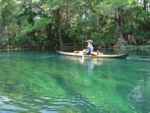 A paddler on the spring-fed Silver River.