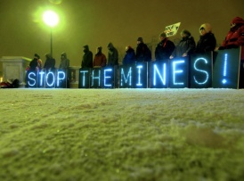 Photo from a recent protest to protect the Penokee Hills