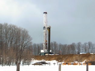 Westerman gas/oil well, Kalkaska County, MI. Photo courtesy of Respect My Planet.