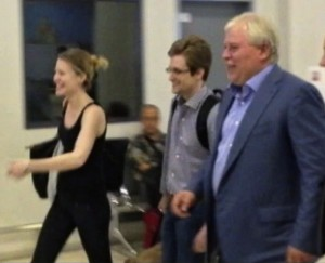 NSA leaker Edward Snowden leaves Sheremetyevo airport outside Moscow on Thursday, Aug. 1, 2013, after being granted asylum in Russia for one year. (AP/Russia24 via Associated Press Television)