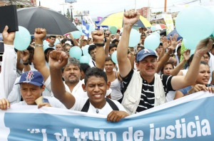 People protest against violence in Honduras